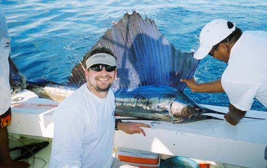 John Hatfield with Sailfish
